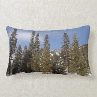 Montana Mountain Trails in Winter Landscape Photo Lumbar Pillow