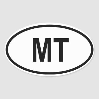 "Montana ""MT"" Oval Sticker"