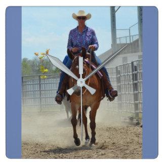 Montana Mule Days June 2016 Square Wall Clock