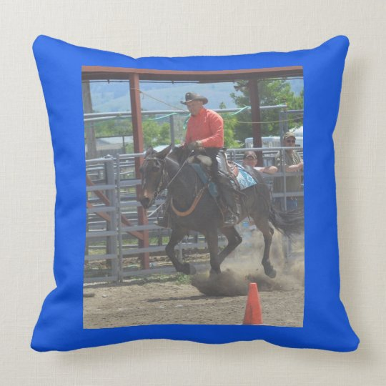 Montana Mule Days June 2016 Throw Pillow