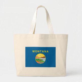 Montana  Official State Flag Jumbo Tote Bag