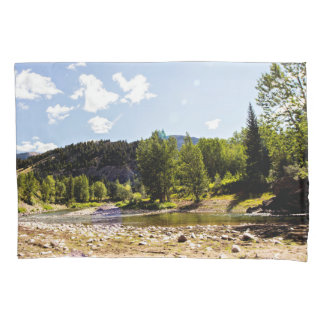 Montana River view Pillow Case Pillowcase