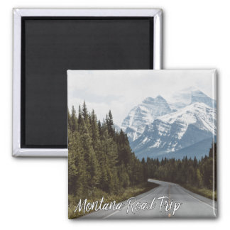 Montana Road Trip Scenic Highway Mountains Magnet