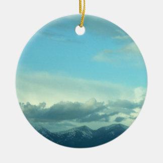 Montana Skies Ceramic Ornament