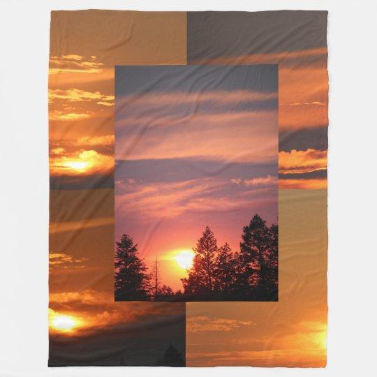 Montana Sky Sunsets 60 x 80 Fleece Blanket