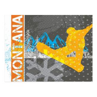Montana Snowboarding Postcard