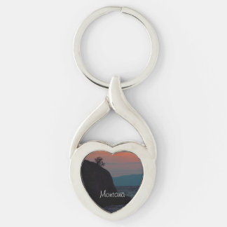 Montana Souvenir Heart KeyRing