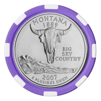 Montana State Quarter Poker Chips