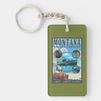 Montana State Scenes Keychain