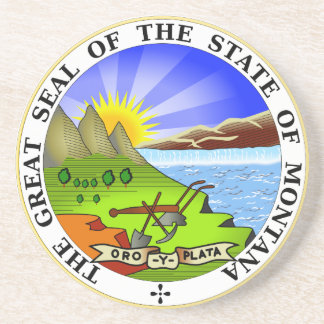 Montana State Seal Coaster