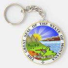 Montana State Seal Keychain