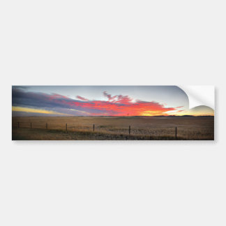 Montana Sunrise Bumper Sticker