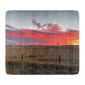 Montana Sunrise Cutting Board