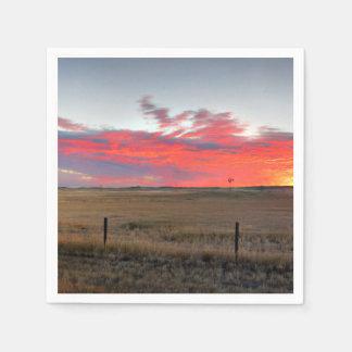 Montana Sunrise Disposable Napkin