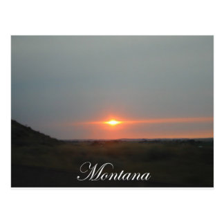 Montana Sunset Postcard