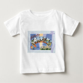 Montana Vintage Greeting Post Card Antique Baby T-Shirt