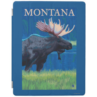 MontanaMoose Vintage Travel Poster iPad Cover