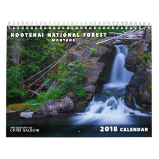 Montana's Kootenai National Forest - 2018 Calendar