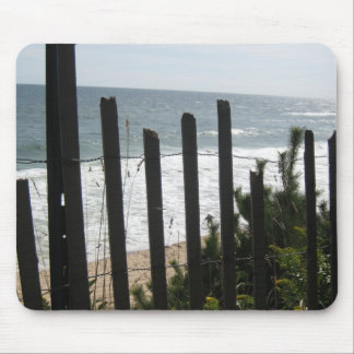 Montauk Fence Love Mouse Pad