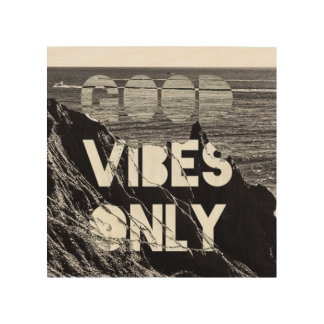 Montauk GOOD VIBES ONLY wood art
