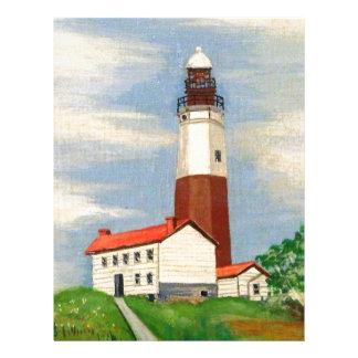 Montauk Lighthouse Customized Letterhead