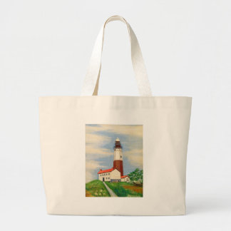 Montauk Lighthouse Large Tote Bag
