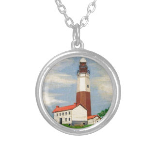 Montauk Lighthouse Silver Plated Necklace
