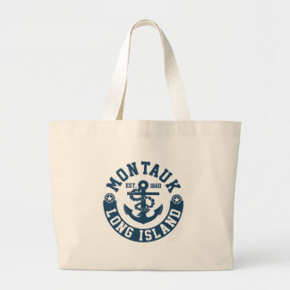 Montauk Long Island Large Tote Bag
