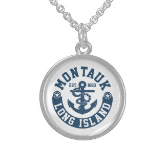 Montauk Long Island Sterling Silver Necklace