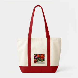 Montauk Pansies Tote Bag