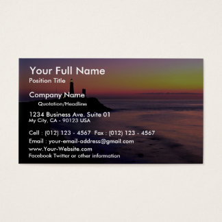 Montauk Point lighthouse Business Card