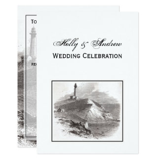 Montauk Point Lighthouse Hamptons Wedding Card