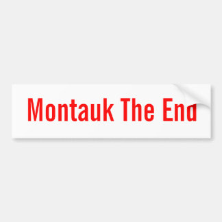 Montauk The End (classic bumpersticker) Bumper Sticker