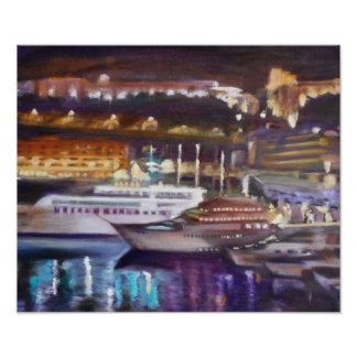 Monte Carlo at Night Poster Paper