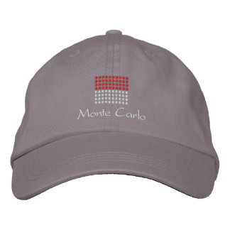 Monte Carlo Cap - Monco Flag Hat Embroidered Baseball Cap