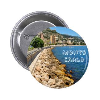 Monte  Carlo in Monaco 2 Inch Round Button