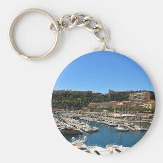 Monte Carlo in Monaco Basic Round Button Keychain