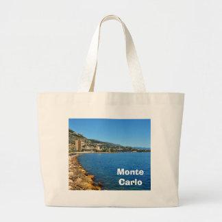 Monte  Carlo in Monaco Large Tote Bag