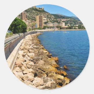 Monte  Carlo in Monaco Round Sticker