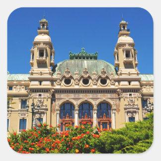 Monte  Carlo in Monaco Square Sticker