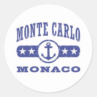 Monte Carlo Monaco Classic Round Sticker