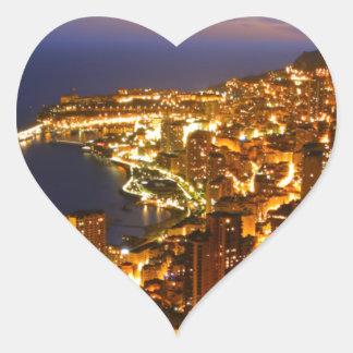 Monte Carlo, Monaco Heart Sticker