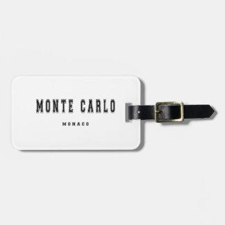 Monte Carlo Monaco Luggage Tag