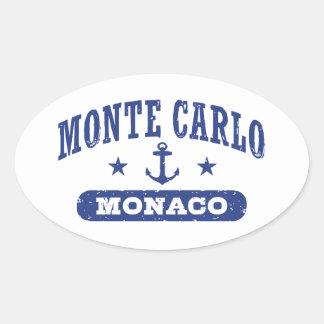 Monte Carlo Monaco Oval Sticker