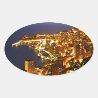 Monte Carlo, Monaco Oval Sticker