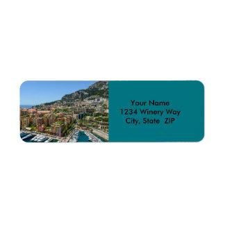 Monte Carlo Monaco Return Address Label