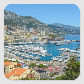 Monte Carlo Monaco Square Sticker