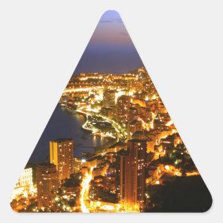 Monte Carlo, Monaco Triangle Sticker