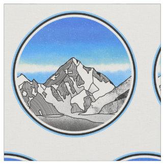 Monte Fitz Roy Mountain Landscape Fabric