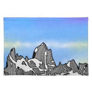 Monte Fitz Roy Mountain Landscape Placemat
